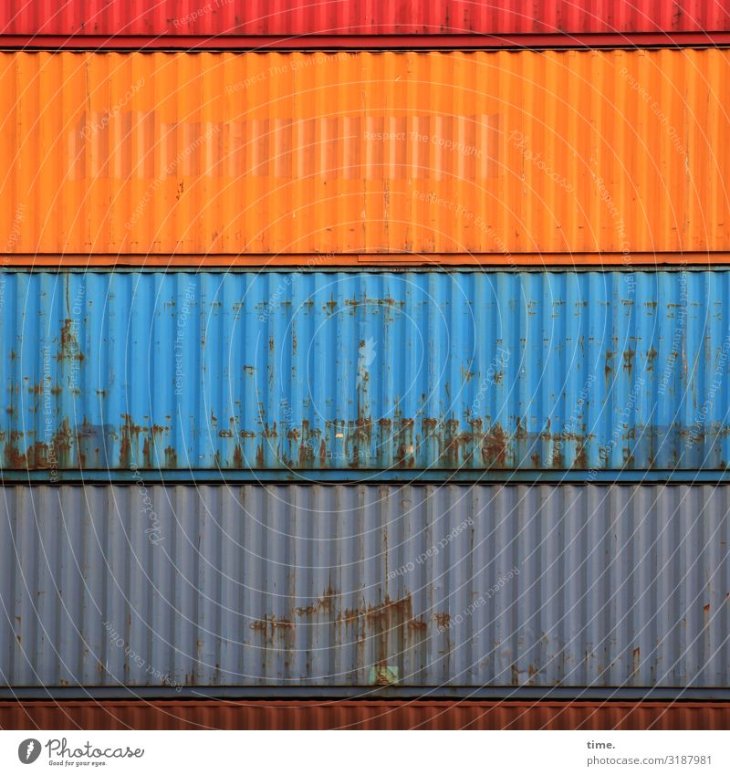 shift change Logistics Services Container Rust Metal Line Stripe Uniqueness Trashy Town Multicoloured Power Might Endurance Unwavering Orderliness Curiosity