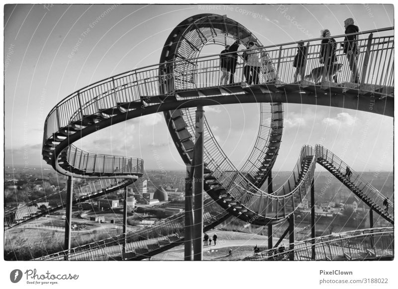 Tiger & Turtle Lifestyle Joy Vacation & Travel Tourism Trip Human being Adults Body Crowd of people 30 - 45 years Art Work of art Sculpture Architecture Culture