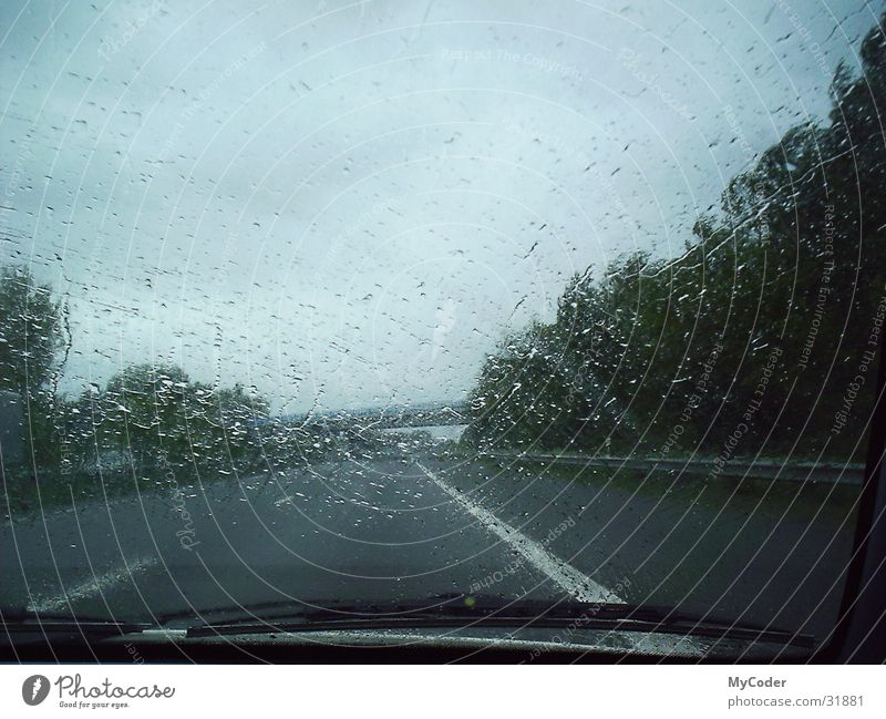 Rain Drops of water Bridge Highway Curb Windscreen wiper