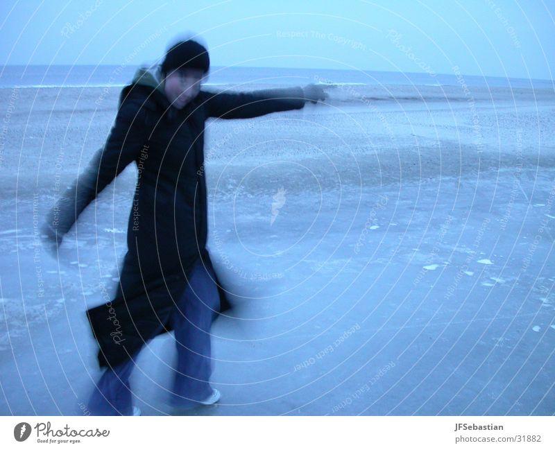 ice dance Winter Cold Happiness Freak Coat Ocean Woman Ice Dance