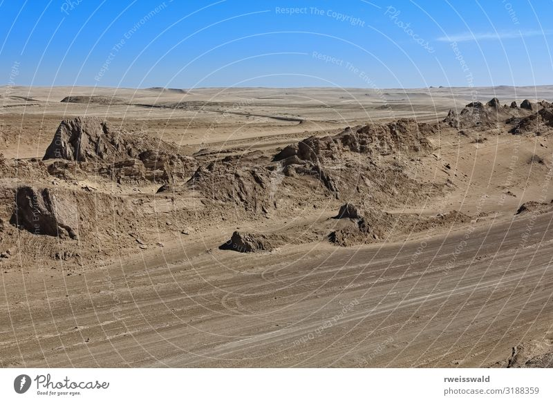Yardangs-wind eroded rock areas. Qaidam desert-Qinghai-China-557 Sky Vacation & Travel Nature Blue Colour Beautiful White Landscape Sun Relaxation Loneliness