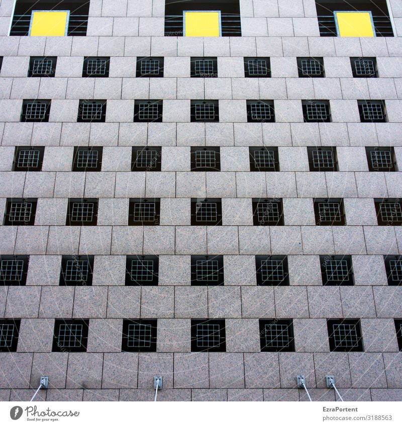 Colour House (Residential Structure) Window Architecture Yellow Wall (building) Building Wall (barrier) Facade Gray Design Line Concrete Stripe