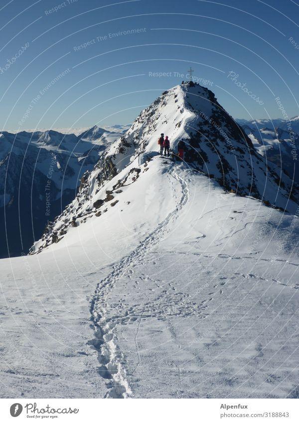 Landscape Joy Mountain Environment Cold Happy Rock Contentment Hiking Ice Power Success Joie de vivre (Vitality) Beautiful weather Cool (slang) Climate