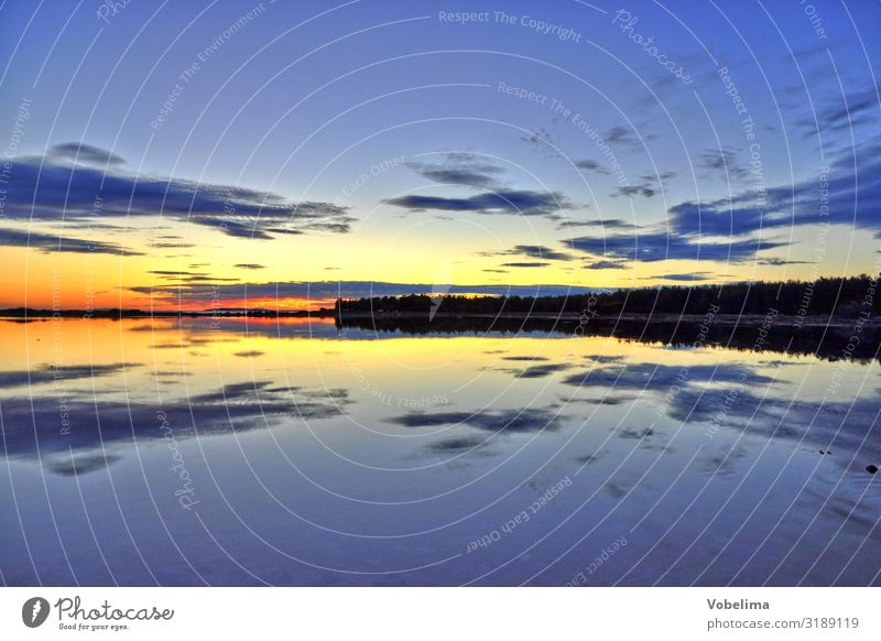 Sunset Nature Landscape Water Sky only Clouds Horizon Coast Ocean pag Croatia Europe Blue Multicoloured Yellow Gold Gray Orange Red Black Evening sun