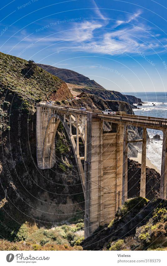 Bixby Creek Bridge Arched bridge big sur California Carmel Monterey Highway One Manmade structures San Francisco Sheet ribs USA