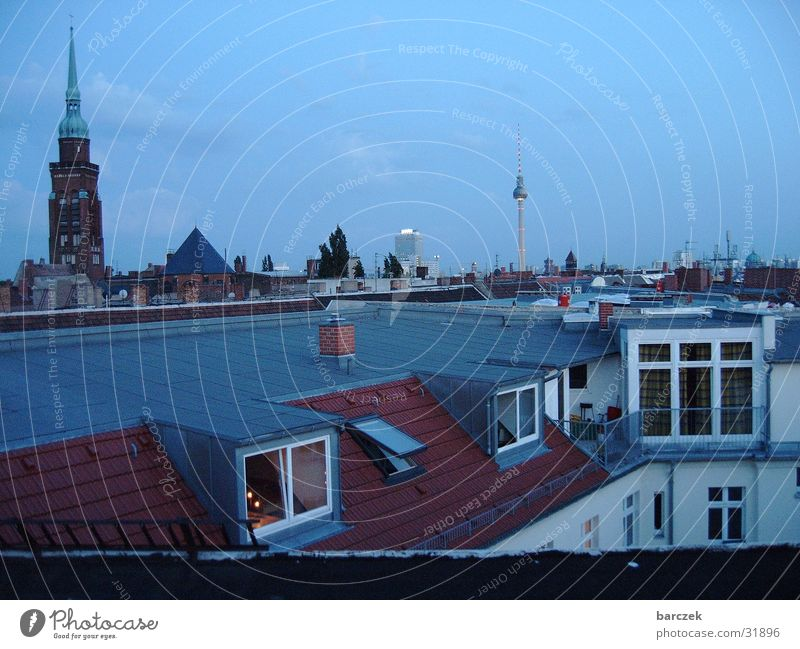 Prenlzlauer Berg_aufm roof 1 Prenzlauer Berg Roof Architecture Berlin Skyline Evening Berlin TV Tower