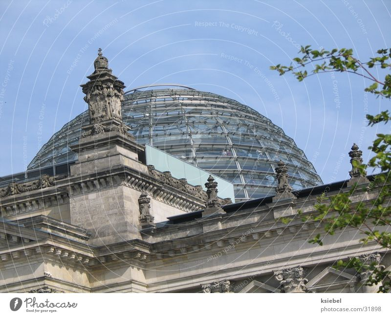 House (Residential Structure) Berlin Architecture Glass Monument Reichstag Domed roof Glass dome