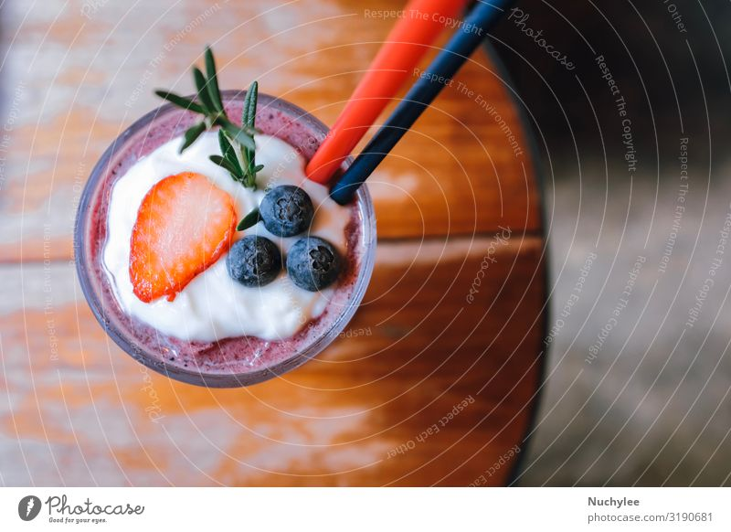 strawberry and blueberry smoothie summer drink Yoghurt Fruit Dessert Nutrition Eating Vegetarian diet Diet Beverage Summer Table Nature Wood Cool (slang) Fresh