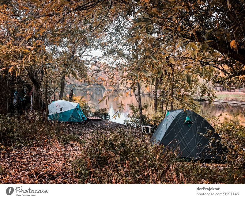 Poverty in Germany - Tents on the Landwehr Canal Vacation & Travel Tourism Trip Adventure Far-off places Freedom Sightseeing City trip Environment Outskirts