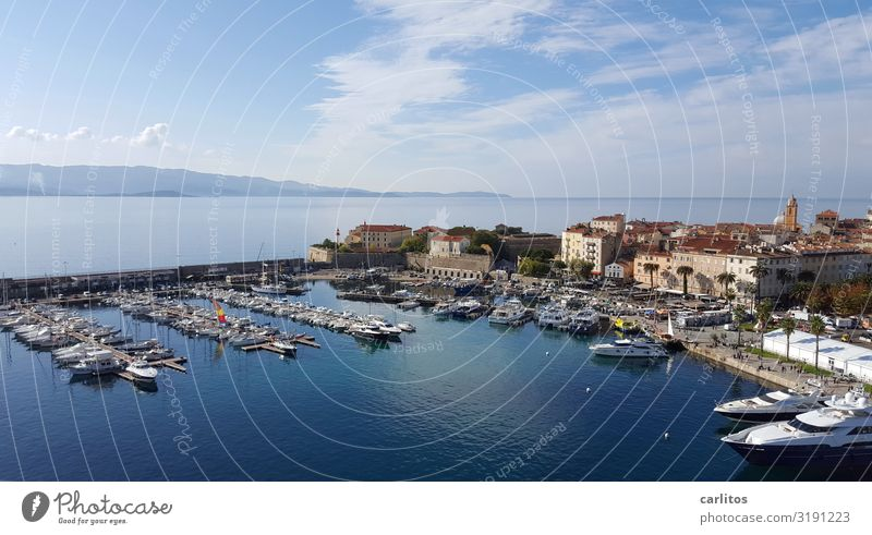 Corsica Ajaccio. France ajaccio Harbour Yacht harbour Tourism Vacation & Travel Travel photography Island Mediterranean sea