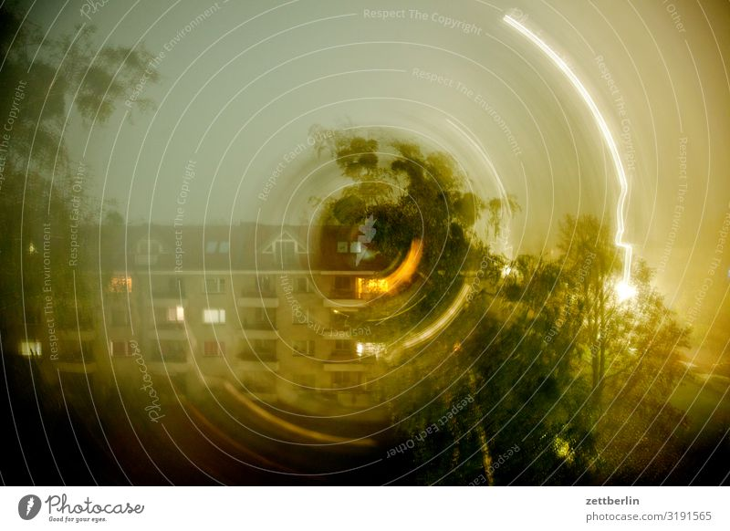 Sky Heaven Town House (Residential Structure) Window Dark Copy Space Facade Living or residing Weather Circle Apartment Building Irritation Rotate