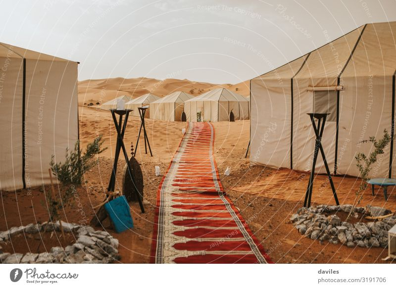 Awesome camp tent in the middle of the desert Lifestyle Exotic Vacation & Travel Tourism Adventure Camping Mountain Hiking House (Residential Structure) Culture