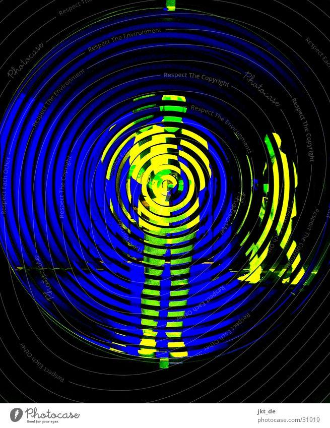 mirror blue 2 Spiral Mirror Man Black Human being Blue