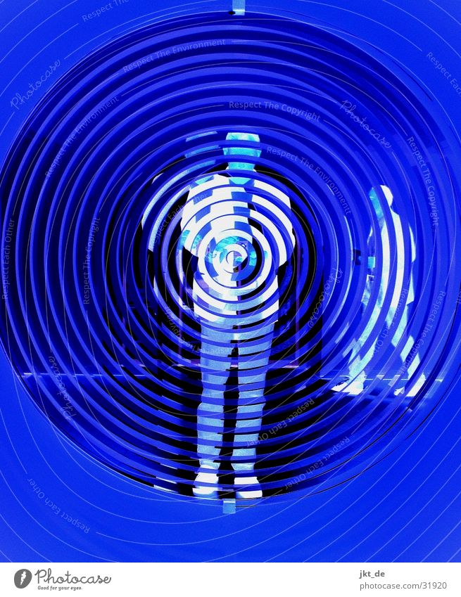 Human being Man Blue Black Group Mirror Spiral