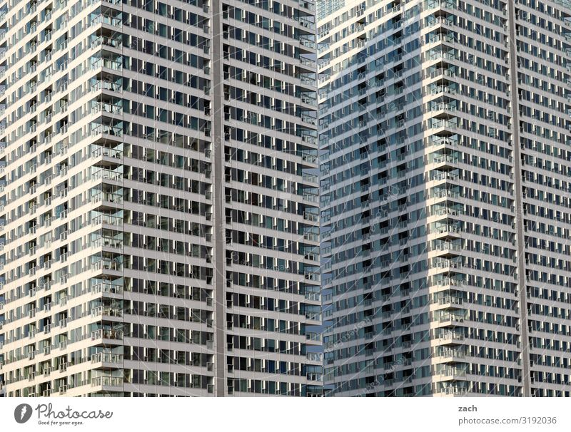 Town House (Residential Structure) Loneliness Window Wall (building) Wall (barrier) Facade Gray Living or residing High-rise Capital city Downtown Balcony