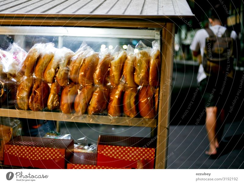 street food hawker at night Food Bread Cake Fast food Lifestyle Shopping Human being Young man Youth (Young adults) Body 1 Small Town Packaging Package