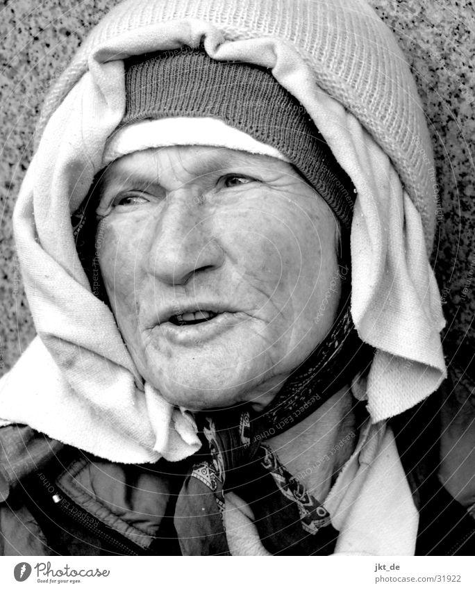 Russian Bag Lady 4 Senior citizen Black White Portrait photograph Woman Female senior approx. 80 years