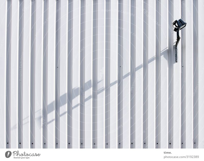 Lightbox (III) Warehouse Wall (barrier) Wall (building) Container Lamp Street lighting Checkmark Hang Bright Watchfulness Endurance Unwavering Orderliness