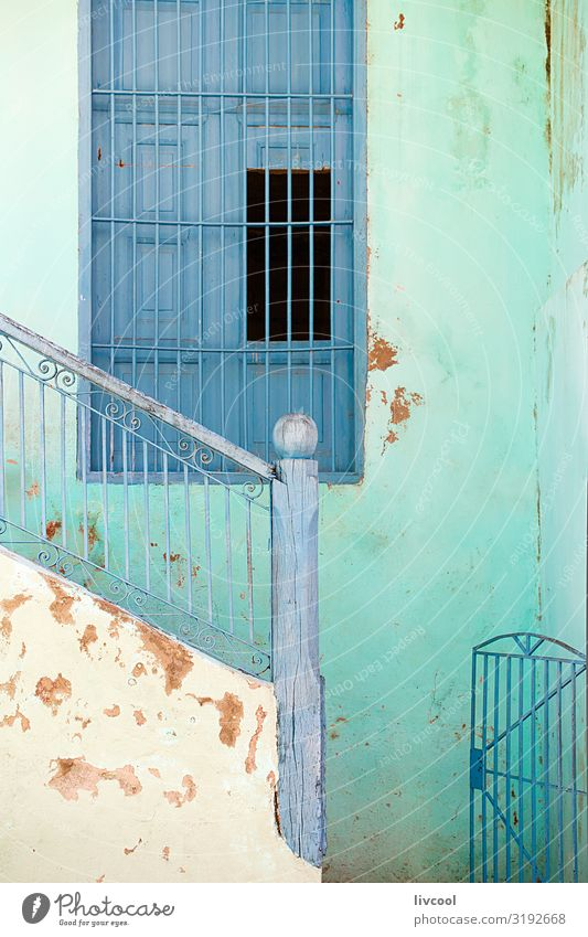 blue window II , santiago de cuba - cuba Vacation & Travel Old Blue Town Green House (Residential Structure) Window Street Architecture Lifestyle