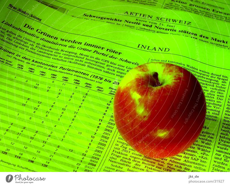 Green Red Newspaper Switzerland Apple Magazine Politics and state
