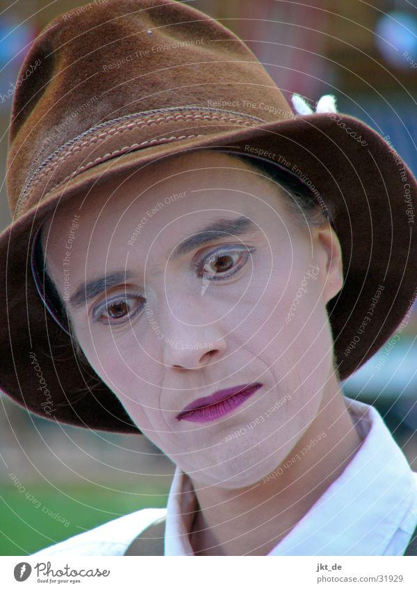 juggler 1 Acrobat Bavaria Make-up Wearing makeup Man Tumbler cabaret Androgynous Hat
