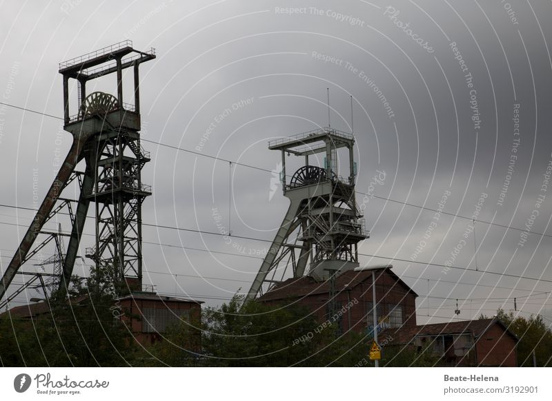 Time signal 1 Work and employment Workplace Energy industry Technology Coal power station Energy crisis Clouds Tower Architecture Mine tower Metal Sign Old