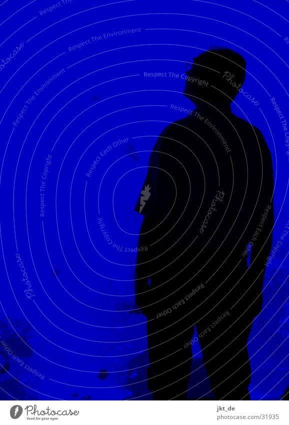 blue print - man, solo 1 Man Old Amazed Black eldery Blue