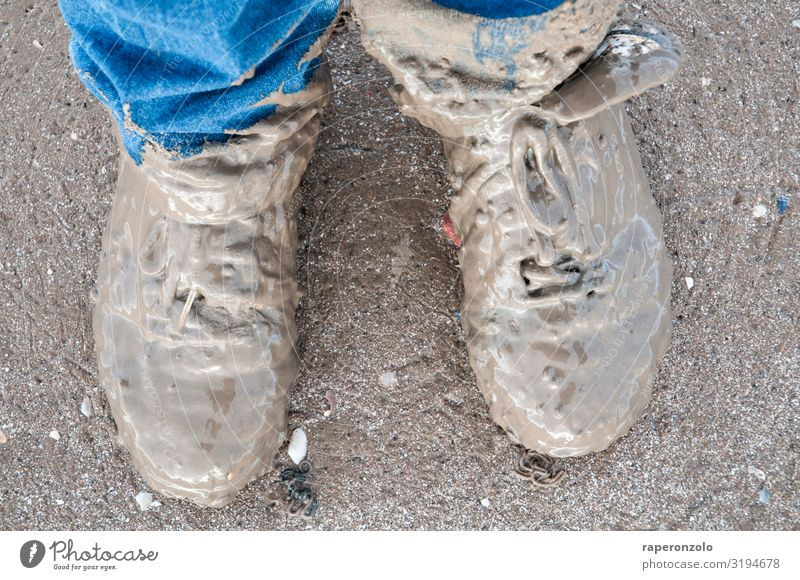Beach Lanes & trails Feet Sand Hiking Earth Dirty Footwear Adventure Authentic Walking Wet Stupid Expedition Bad weather Mud flats