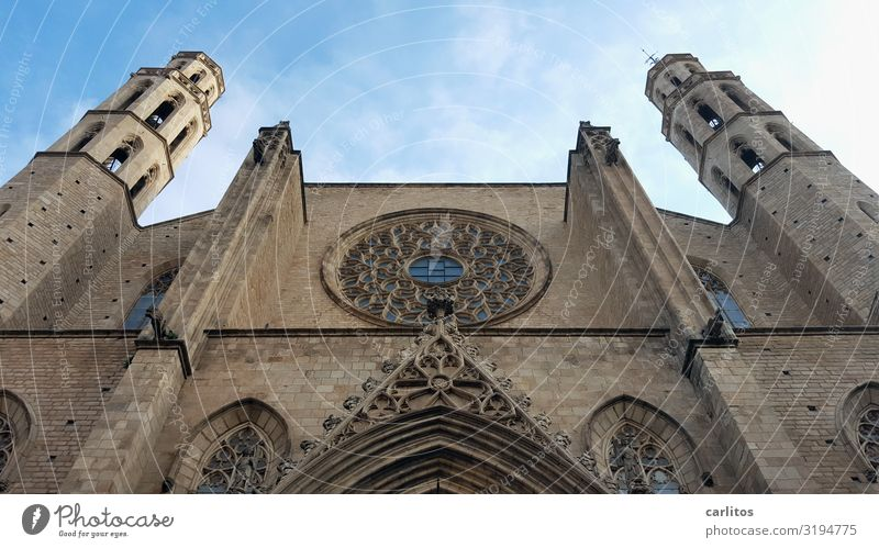 Barcelona|Santa Maria del Mar Spain Born Cathedral Virgin Mary Gothic period Old town Tourism Vacation & Travel Travel photography Religion and faith Church