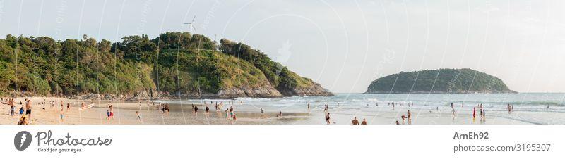 Tropical beach Swimming & Bathing Human being Masculine Feminine Child Girl Boy (child) Young woman Youth (Young adults) Young man Woman Adults Man