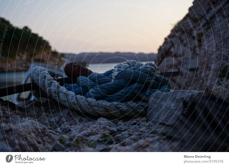 Old Sea Rope Art Environment Nature Landscape Water Sky Horizon Sunrise Sunset Summer Beautiful weather Waves Ocean Swimming & Bathing Discover To enjoy