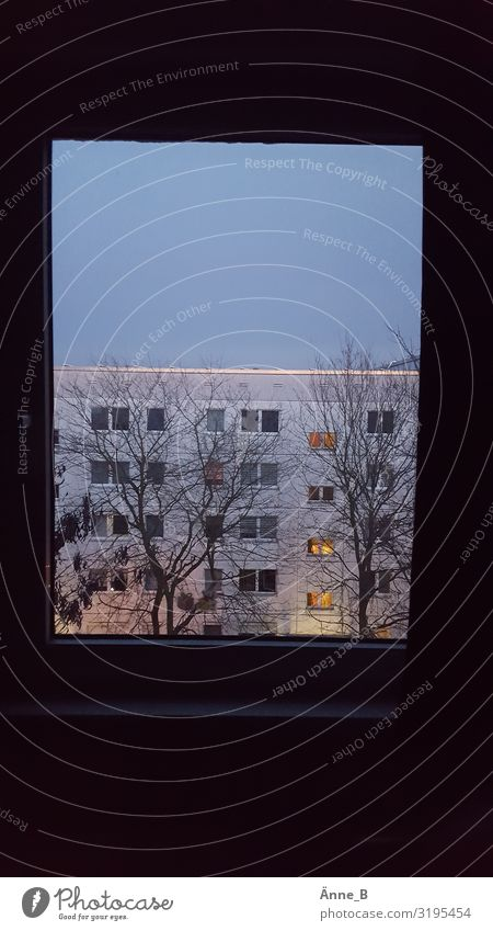 Room with a view Living or residing Flat (apartment) House (Residential Structure) Window Roof Prefab construction Lockbox Outskirts Populated High-rise