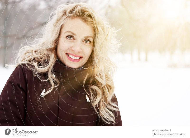 blonde woman enjoys sunny winter day Lifestyle Joy Leisure and hobbies Vacation & Travel Trip Winter Snow Winter vacation Hiking Human being Feminine Woman