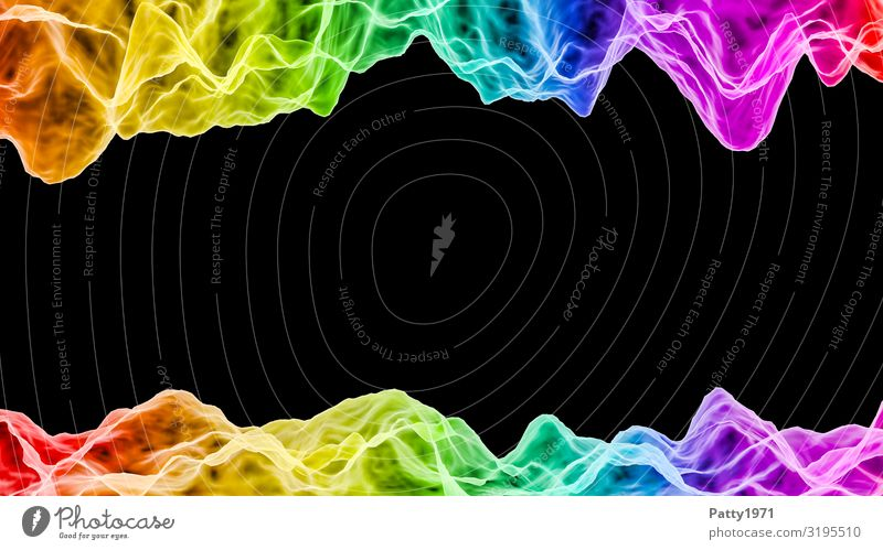 Acoustic waves - Podcast Concept 3D Render Media industry Entertainment electronics High-tech Information Technology Clang sound waves Hip & trendy Crazy