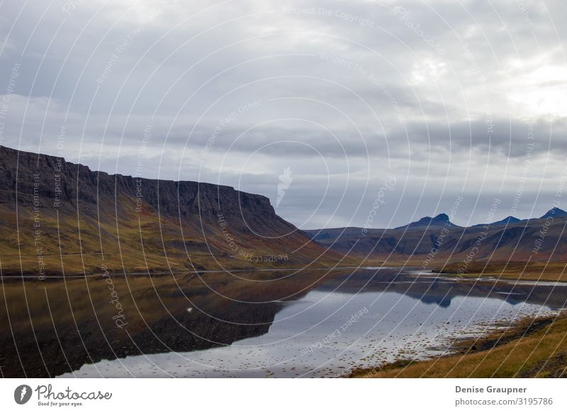 Iceland's beautiful landscape mountains and water Vacation & Travel Environment Nature Landscape Water Clouds Climate Climate change Bad weather Mountain scenic