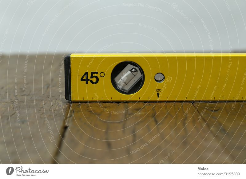Yellow spirit level Profile Tool Building House (Residential Structure) Measure Measurement Concepts &  Topics Possessions Redecorate Craftsperson Project Scale