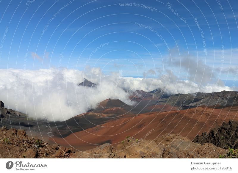 Haleakala National Park is a national park on the island of Maui Environment Nature Landscape Sky Sun Climate Climate change Weather Beautiful weather Flying