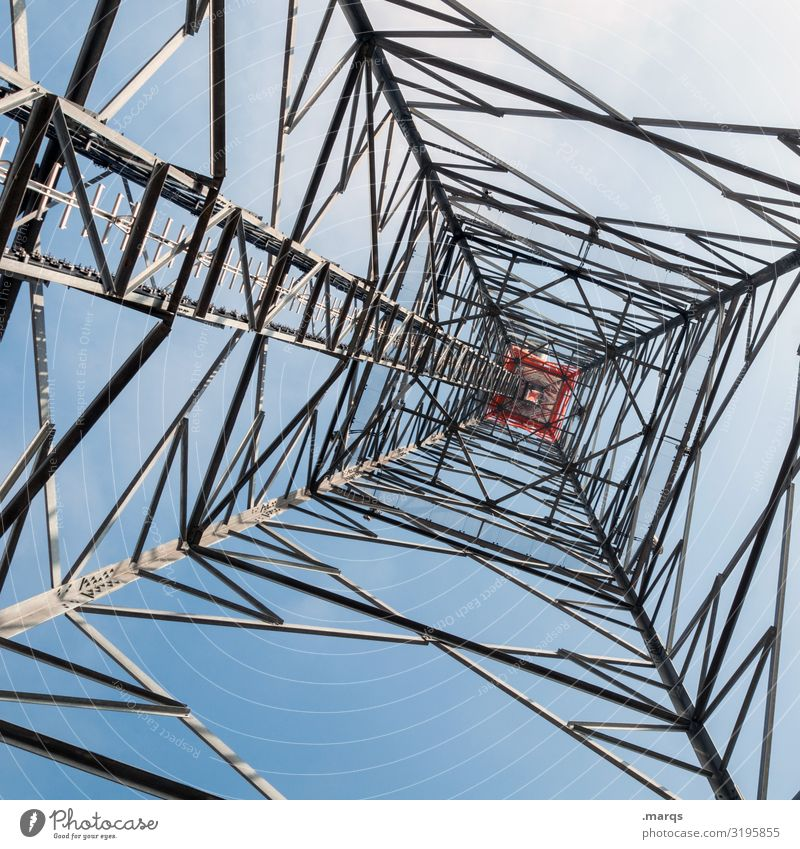 Energy industry Technology Authentic Electricity Cloudless sky Electricity pylon