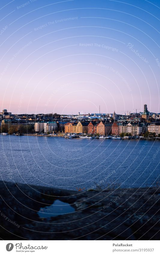 #S# Stockholm Twilight Town Capital city Port City Life Multicoloured Architecture Travel photography Scandinavia Ocean Water City trip Sweden Many Exceptional