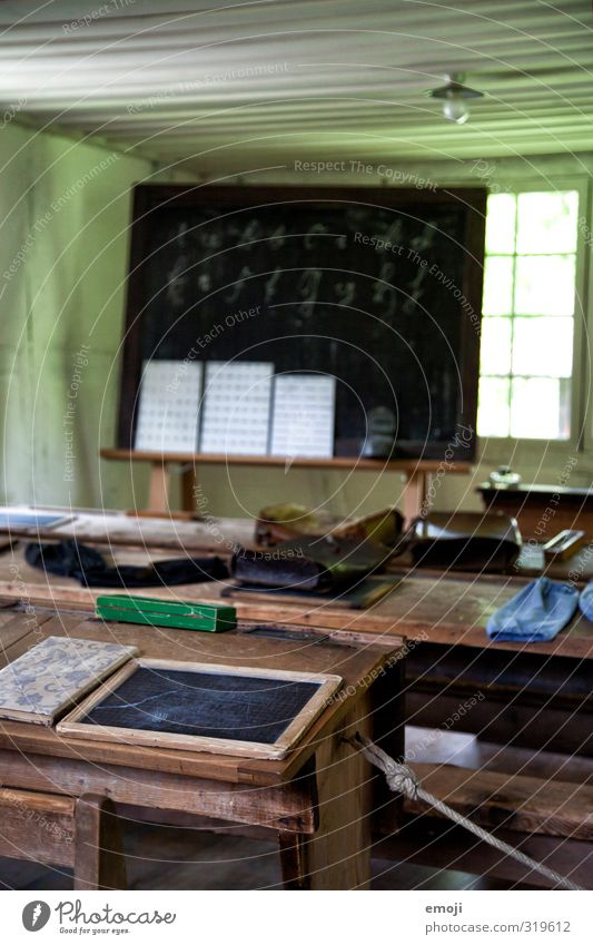old school Museum School Blackboard Lectern House (Residential Structure) Stationery Old Original Retro Colour photo Interior shot Deserted Day