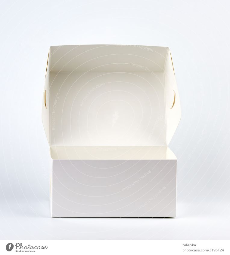empty open white cardboard box Shopping Design Mail Transport Container Paper Packaging Package Clean White Promotion Open Merchandise Cardboard Storage
