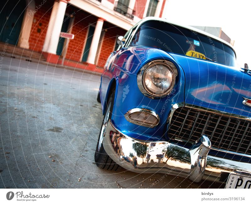American vintage car in Cuba Vintage car Lifestyle Historic Mobility Taxi Vacation & Travel Tourism City trip Summer Means of transport Street Car Glittering