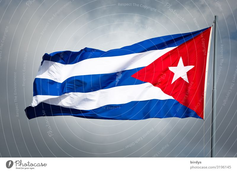 500 years of Havana Sky Clouds Wind Cuba Flag Authentic Positive Rebellious Blue Gray Red White Honor Self-confident Endurance Unwavering Pride Success Society