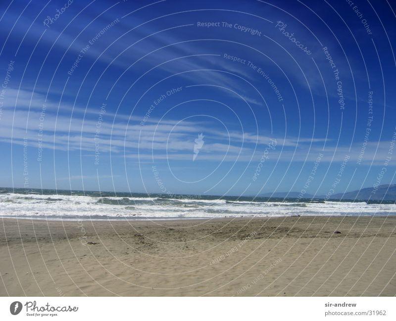 Ocean Beach Clouds Waves Coast USA Blue sky California Pacific Ocean North America San Francisco