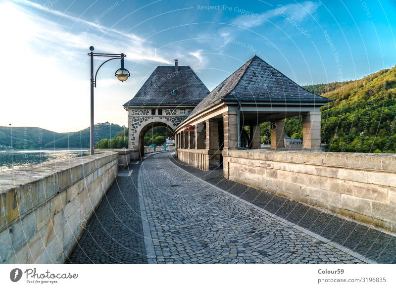 Tower room at the Edersee Vacation & Travel Tourism Trip City trip Summer Architecture Nature Park Deserted Bridge Tourist Attraction Landmark Stone Town