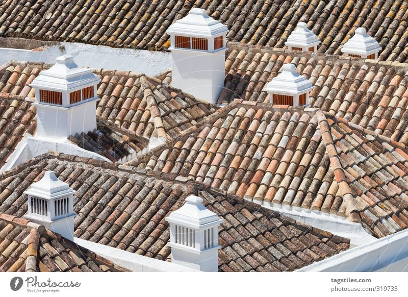 Vacation & Travel City Travel photography Idyll Tourism Roof Card Paradise Heavenly Chimney Portugal Paradisical Algarve Faro