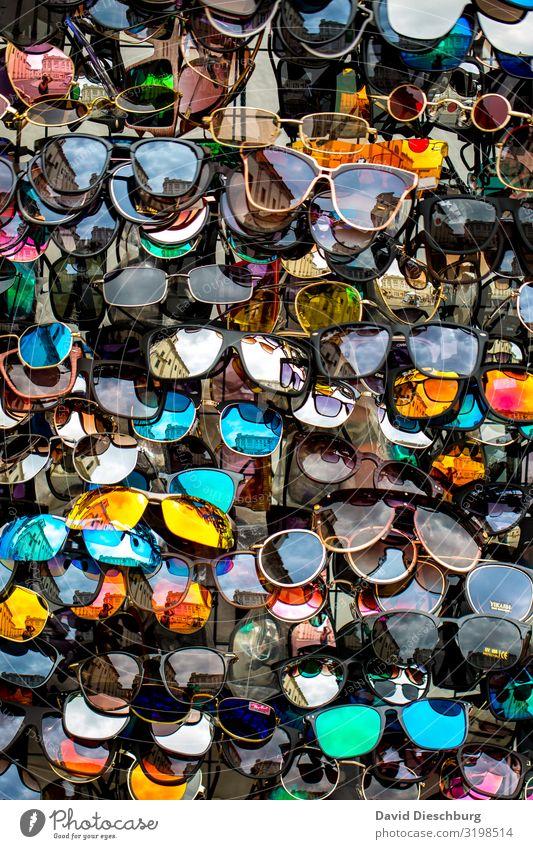 spoilt for choice Vacation & Travel Tourism Fashion Accessory Sunglasses Plastic Multicoloured Advice Design Services Portrait format Background picture