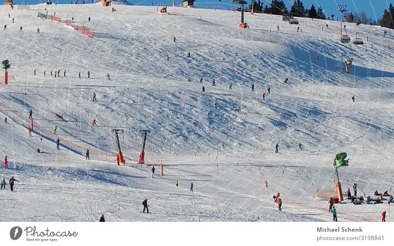 Ski slopes on the Feldberg Joy Athletic Leisure and hobbies Vacation & Travel Tourism Trip Freedom Winter Snow Winter vacation Mountain Hiking