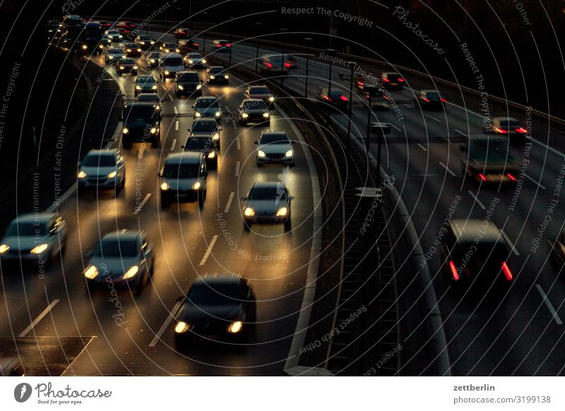 A 100 Car Highway Driving Vacation & Travel Movement Curve Travel photography Speed Tracks Lane change Traffic jam Risk of accident Road traffic Copy Space