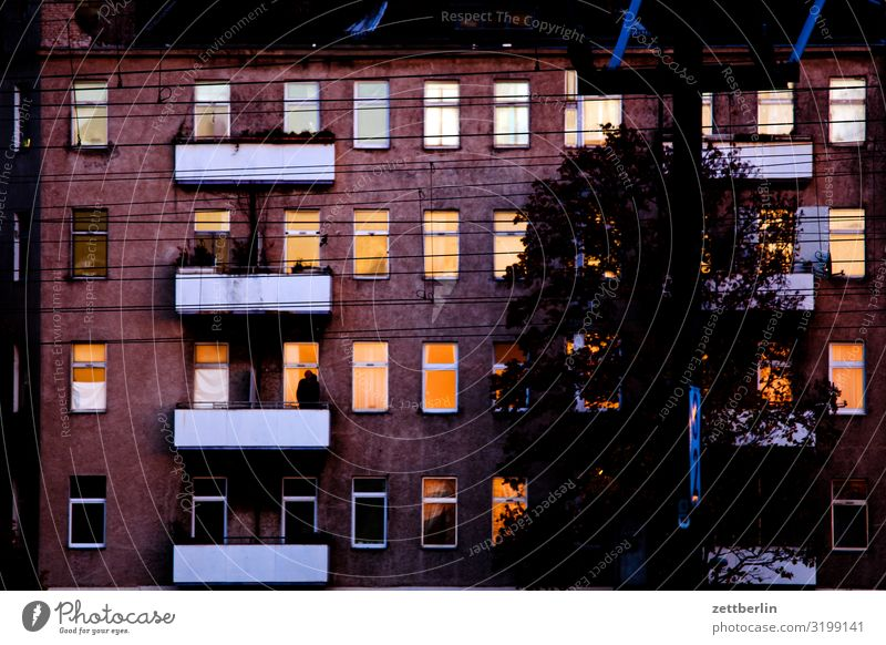 Town House (Residential Structure) Window Dark Wall (building) Berlin Copy Space Wall (barrier) Facade Living or residing Weather Apartment Building Downtown